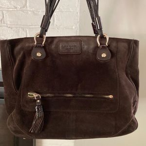 Kate Spade Suede Brown Handbag